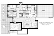 Contemporary Style House Plan - 3 Beds 2 Baths 2011 Sq/Ft Plan #928-345 Floor Plan - Lower Floor Plan