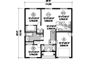 Country Style House Plan - 2 Beds 1 Baths 1197 Sq/Ft Plan #25-4305 Floor Plan - Main Floor Plan