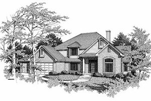 Traditional Exterior - Front Elevation Plan #70-424