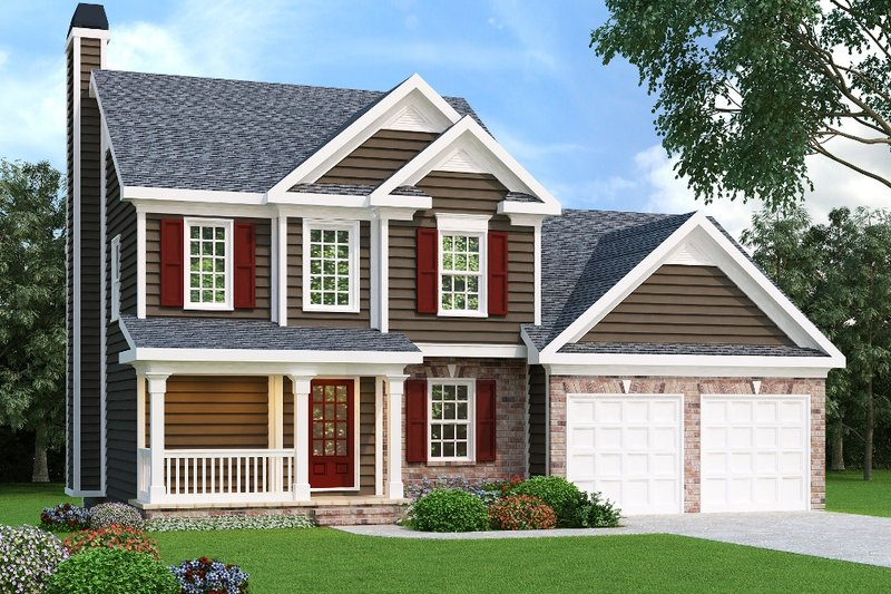Craftsman Exterior - Front Elevation Plan #419-122