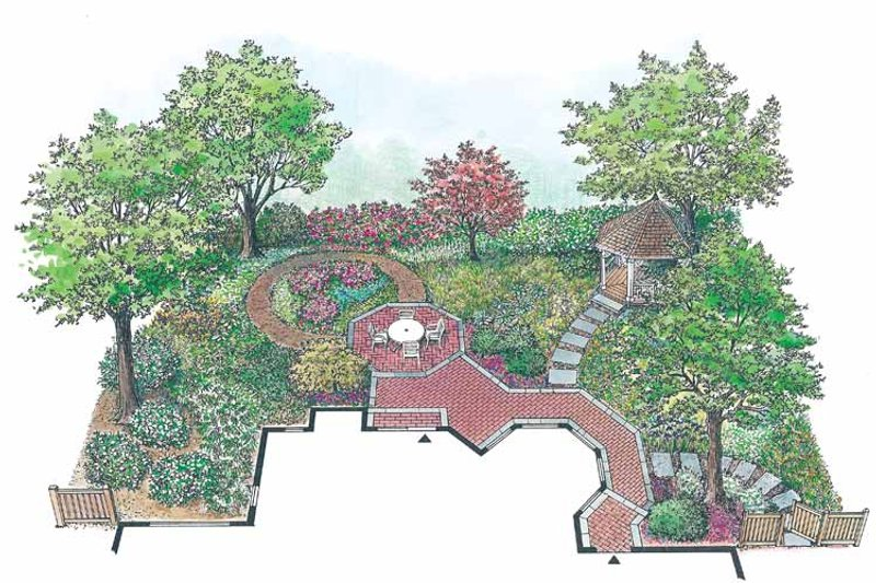 Exterior - Rear Elevation Plan #1040-97 - Houseplans.com