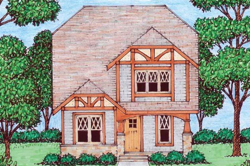 Tudor Exterior - Front Elevation Plan #413-911 - Houseplans.com