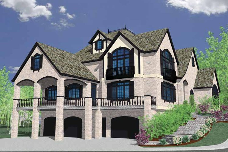 Country Exterior - Rear Elevation Plan #509-398 - Houseplans.com