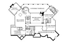 Mediterranean Floor Plan - Lower Floor Plan Plan #453-617