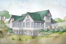 House Plan Design - Traditional Exterior - Rear Elevation Plan #928-288