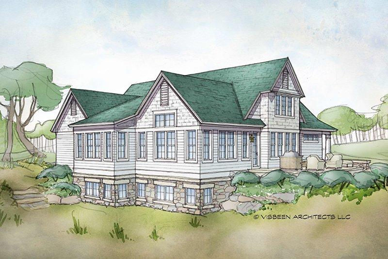 Traditional Exterior - Rear Elevation Plan #928-288 - Houseplans.com