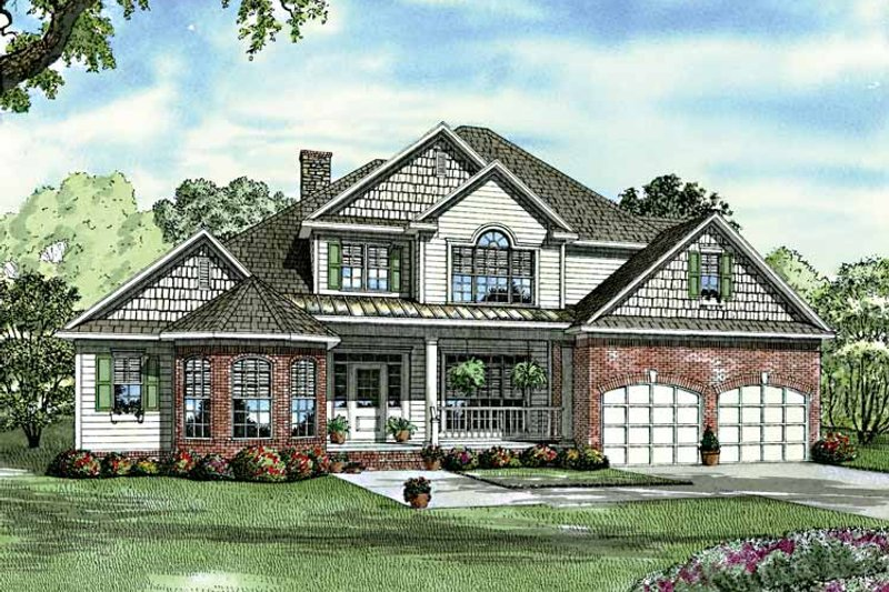Traditional Exterior - Front Elevation Plan #17-3125 - Houseplans.com