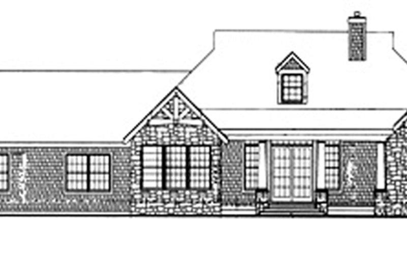 Craftsman Exterior - Rear Elevation Plan #314-288 - Houseplans.com
