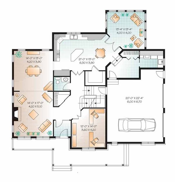 Country Floor Plan - Main Floor Plan Plan #23-2556