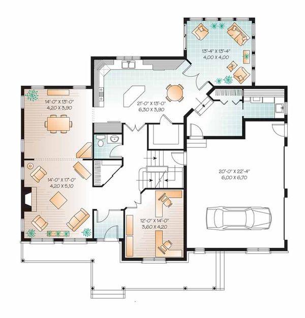 Country Floor Plan - Main Floor Plan Plan #23-2556