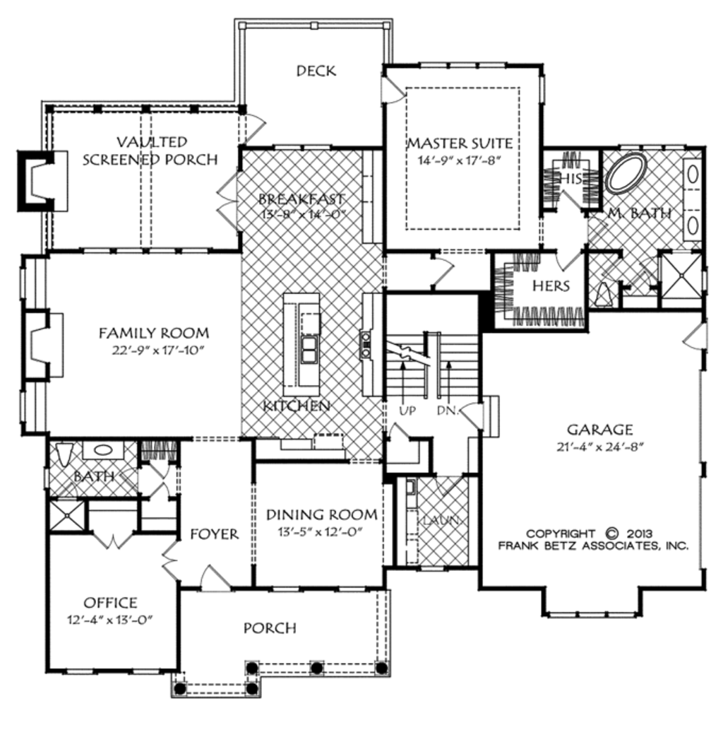 Traditional Style House Plan - 4 Beds 5 Baths 3454 Sq/Ft Plan #927 ...