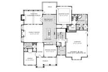 Traditional Floor Plan - Main Floor Plan Plan #927-963