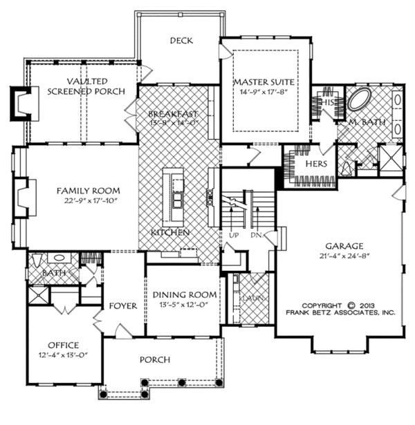 Traditional Floor Plan - Main Floor Plan Plan #927-963