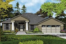 Architectural House Design - Contemporary Exterior - Front Elevation Plan #1015-41