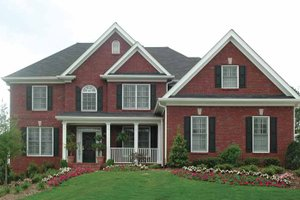 Dream House Plan - Traditional Exterior - Front Elevation Plan #54-307