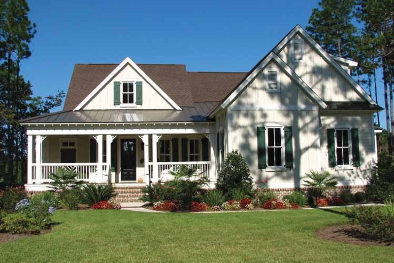 Country Exterior - Front Elevation Plan #54-287 - Houseplans.com