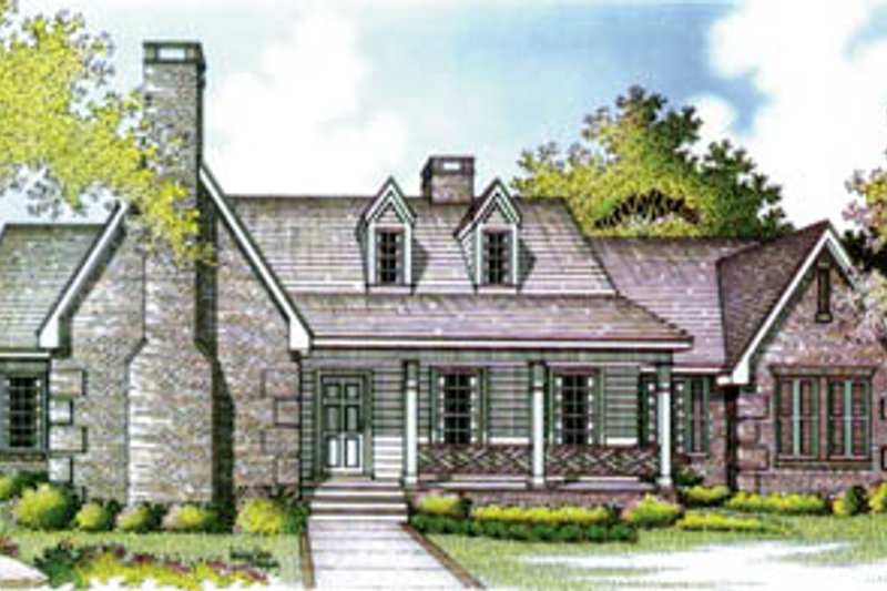 Home Plan - Traditional Exterior - Front Elevation Plan #45-163