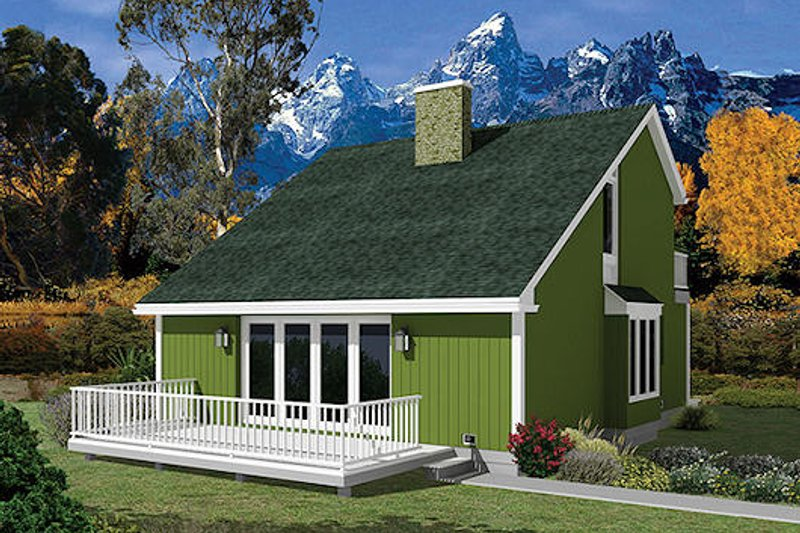 Cottage Style House Plan - 3 Beds 2 Baths 1299 Sq/Ft Plan #57-485 Exterior - Front Elevation