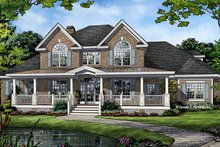 Dream House Plan - Traditional Exterior - Front Elevation Plan #929-1017