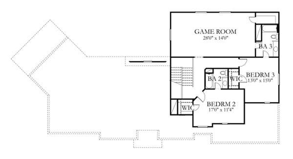 Traditional Floor Plan - Upper Floor Plan Plan #80-187