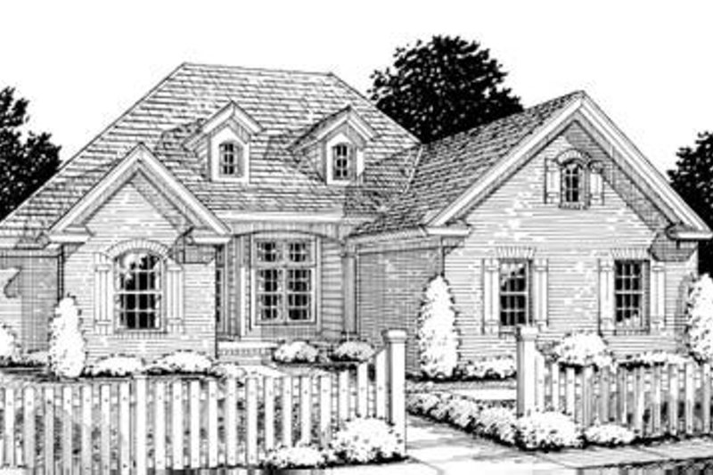 Dream House Plan - Traditional Exterior - Front Elevation Plan #20-1361