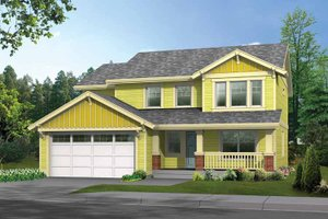 Dream House Plan - Craftsman Exterior - Front Elevation Plan #569-20