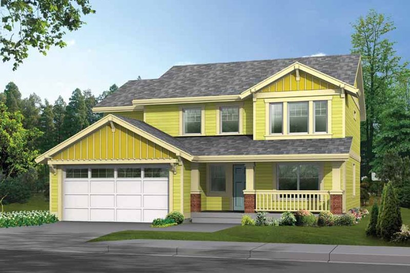 Architectural House Design - Craftsman Exterior - Front Elevation Plan #569-20