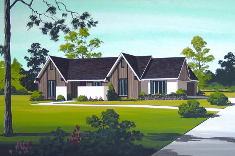 Architectural House Design - Exterior - Front Elevation Plan #45-322