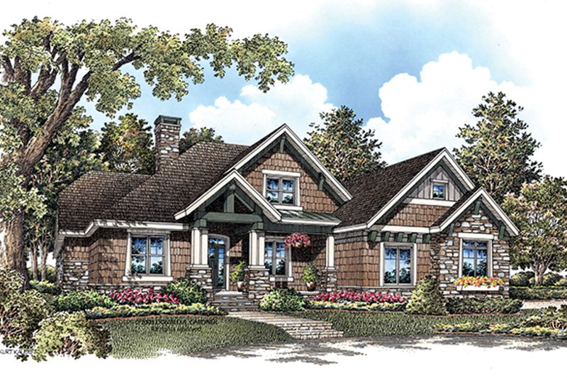 Dream House Plan - Craftsman Exterior - Front Elevation Plan #929-908