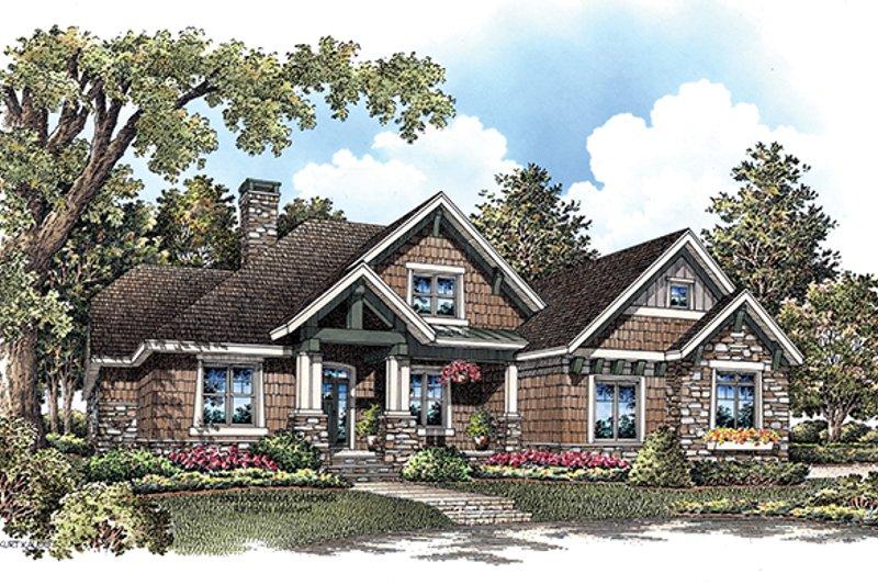 House Plan Design - Craftsman Exterior - Front Elevation Plan #929-908