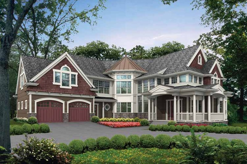 Craftsman Exterior - Front Elevation Plan #132-486 - Houseplans.com