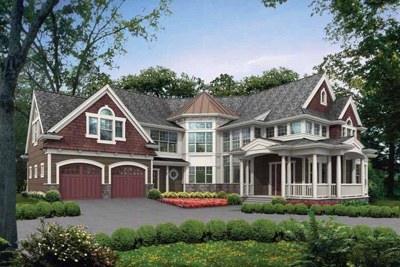 Craftsman Exterior - Front Elevation Plan #132-486