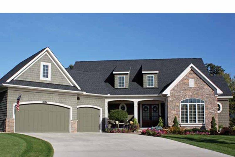 Architectural House Design - European Exterior - Front Elevation Plan #51-1080