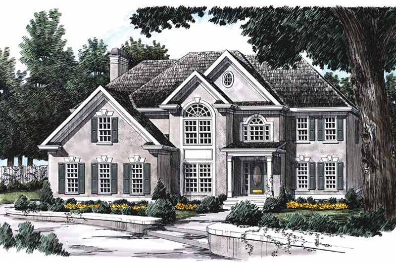 Mediterranean Exterior - Front Elevation Plan #927-71