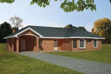Ranch Exterior - Front Elevation Plan #1061-20