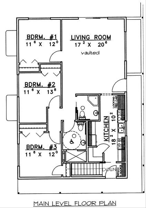 Log Floor Plan - Main Floor Plan Plan #117-547