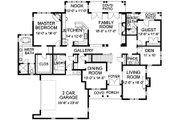 European Style House Plan - 5 Beds 4.5 Baths 4619 Sq/Ft Plan #490-5 Floor Plan - Main Floor Plan