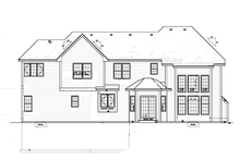 Country Exterior - Rear Elevation Plan #1001-106