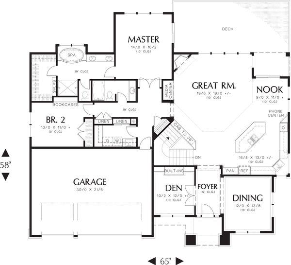 Prairie Floor Plan - Main Floor Plan Plan #48-605