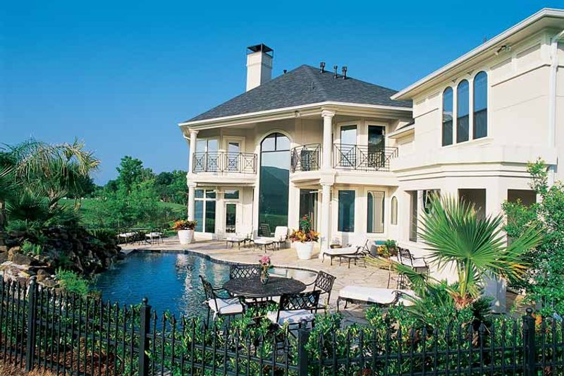 Mediterranean Exterior - Rear Elevation Plan #1021-2 - Houseplans.com