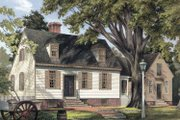 Colonial Style House Plan - 3 Beds 2.5 Baths 2580 Sq/Ft Plan #137-344 Exterior - Front Elevation