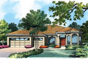 Architectural House Design - European Exterior - Front Elevation Plan #1015-3