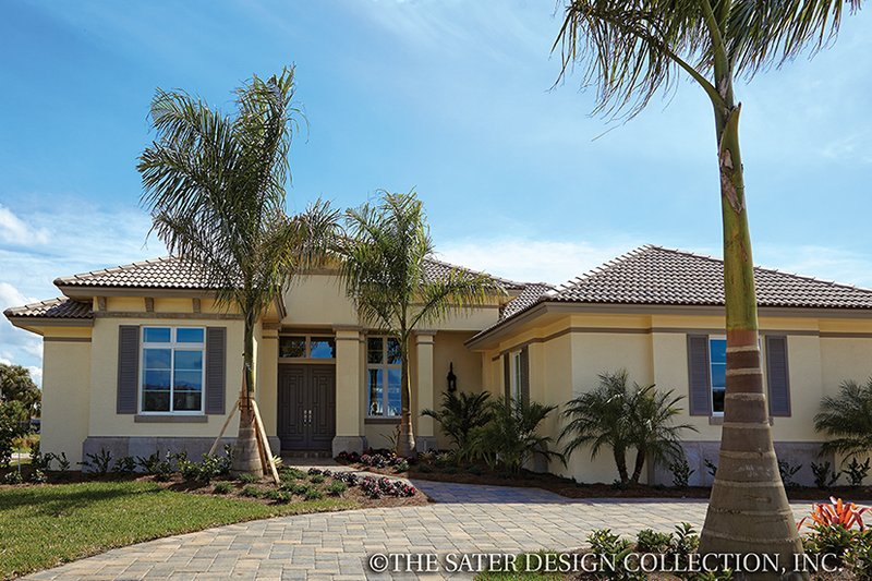 House Plan Design - Mediterranean Exterior - Front Elevation Plan #930-456