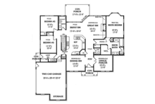 Colonial Floor Plan - Main Floor Plan Plan #314-274