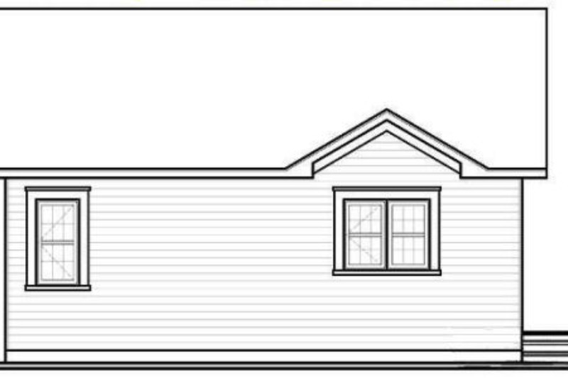 Cottage Exterior - Rear Elevation Plan #23-2198 - Houseplans.com
