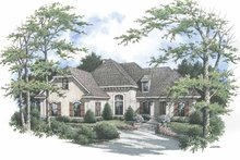 Mediterranean Exterior - Front Elevation Plan #45-423