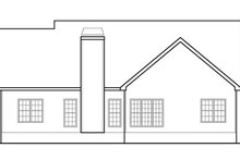 House Plan Design - Country Exterior - Rear Elevation Plan #927-395