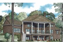 Dream House Plan - Traditional Exterior - Rear Elevation Plan #17-3365
