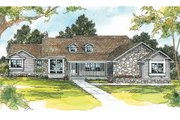 Traditional Style House Plan - 3 Beds 2.5 Baths 2745 Sq/Ft Plan #124-200 Exterior - Front Elevation
