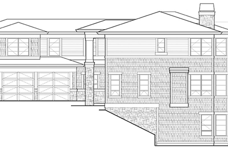 Prairie Exterior - Other Elevation Plan #132-518 - Houseplans.com
